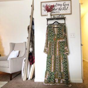 Altar'd State bohemian maxi dress SZ L